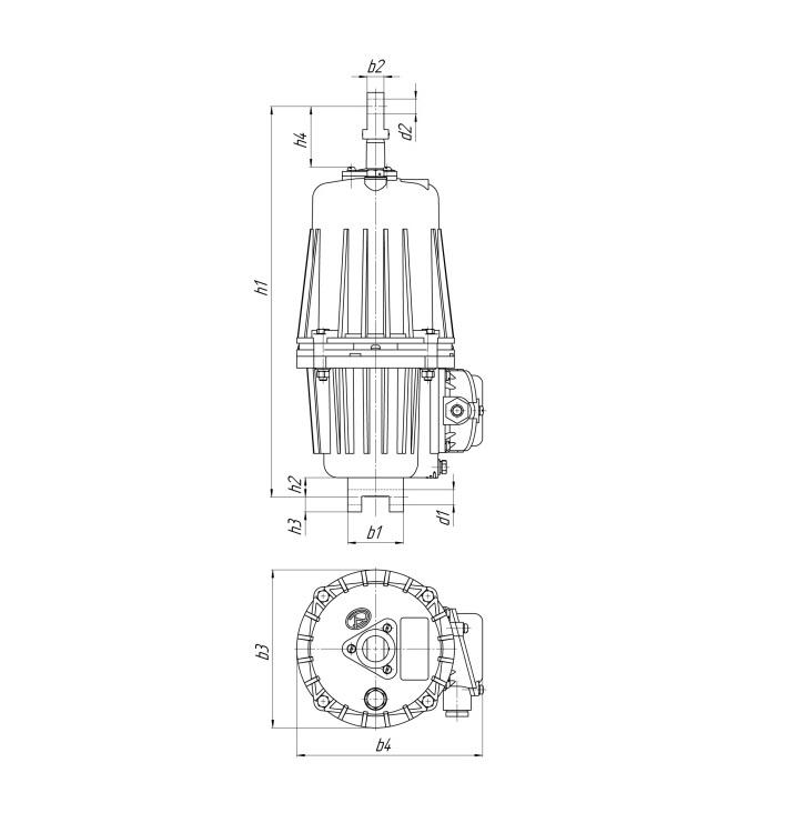 Габаритные размеры гидротолкателя ТЭ