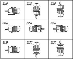 Схемы сборки мотор-редукторов ЗМП
