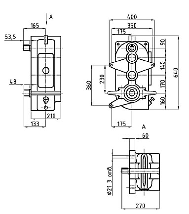 Установочные размеры редуктора В-400
