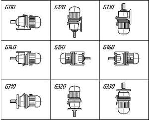 Схемы сборки мотор-редукторов 4МЦ2С