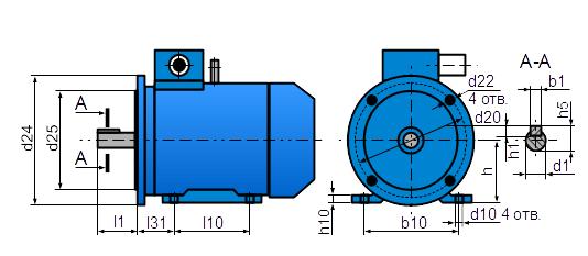 Установочные размеры IM2081 и IM3081