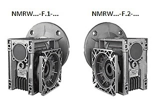 Варианты расположения выходного фланца nmrw